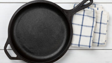 Empty, Clean Black Cast Iron Pan