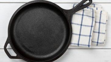 Empty, Clean Black Cast Iron Pan