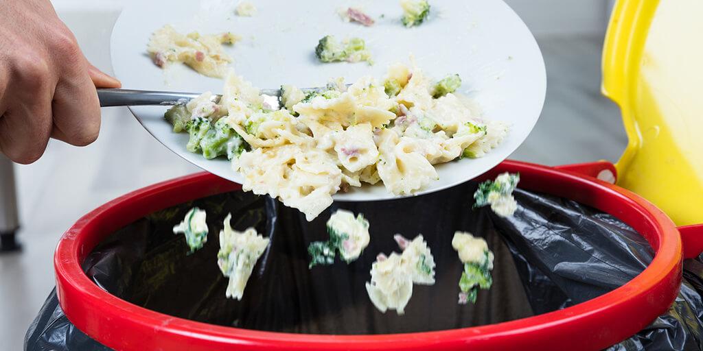 Food Waste in the bin