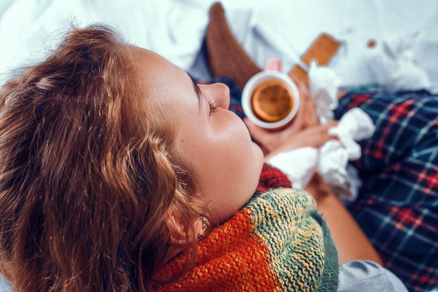 Peppermint tea while sick