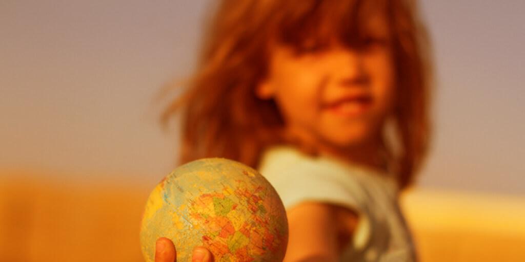 Planet girl holding ball_Stainless Steel